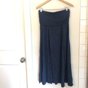Max Studio Navy Maxi Skirt, size large